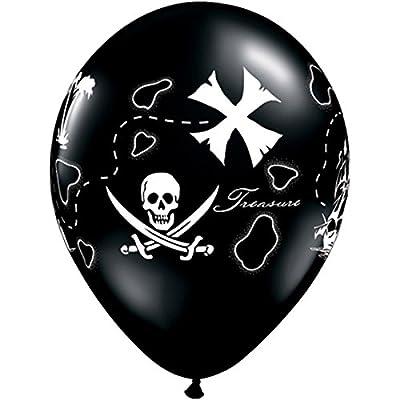 "11"" Pirate's Treasure Map Latex Balloons Bag of 10: Toys & Games"