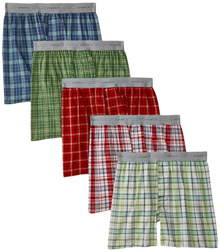 hanes-big-boys-woven-exposed-waistband-5-pack-assorted-plaid-large