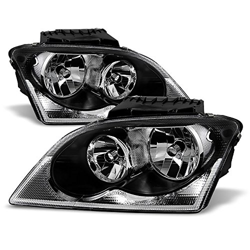 Chrysler Pacifica Touring (VIPMotoZ 2004-2006 Chrysler Pacifica Headlights - Matte Black Housing, Driver and Passenger Side)