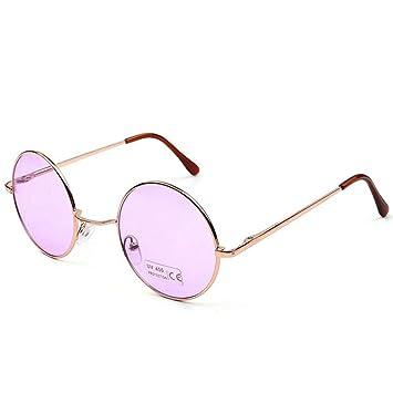 WDDYYBF Gafas De Sol, Gafas Redondas De Color Caramelo Moda ...
