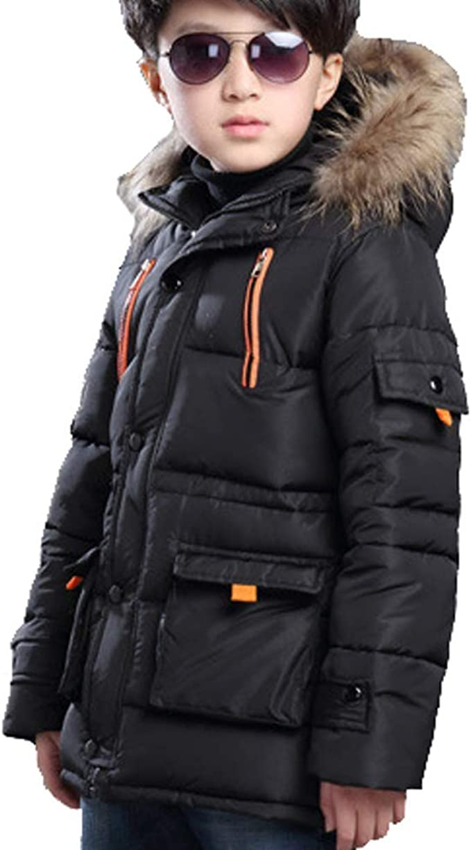 Parka Jacket Fluffy Hood