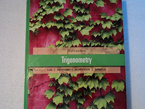 Trigonometry 10th Edition