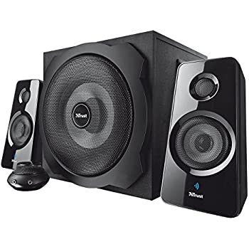 Trust Tytan 120 Watts 2.1 Speakers with Bluetooth and Subwoofer, Black