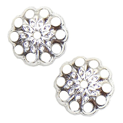 ROUND FILIGREE MEDALLION STAR VINTAGE STYLE 50pc FREE SHIPPING (silver Plated) ()
