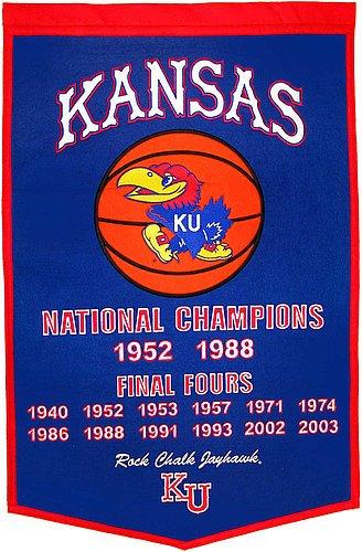 Kansas Jayhawks Dynasty Banner - NCAA Licensed - Kansas Jayhawks Collectibles