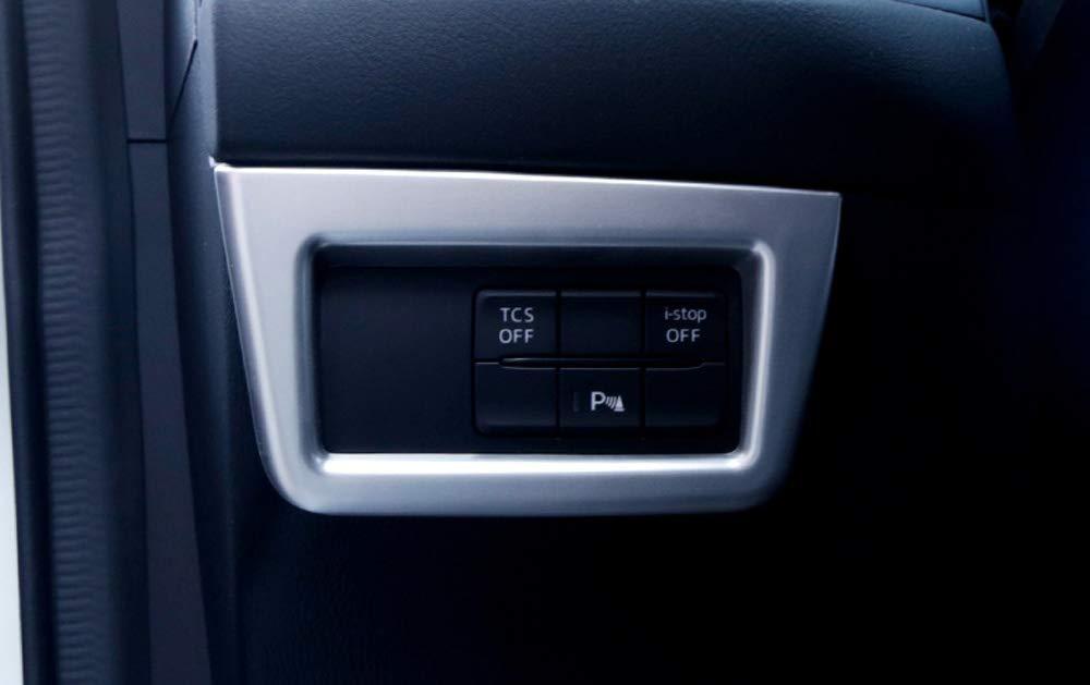 kadore For Mazda CX-5 2017 2018 2019 Interior Headlight Lamp Switch Button Panel Cover Trim Frame 1pc