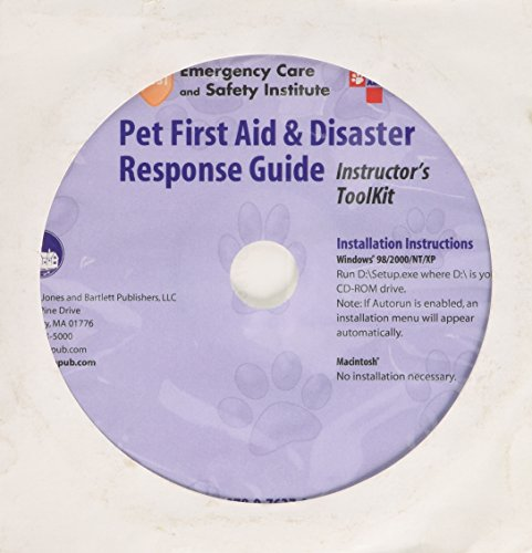 Pet First Aid and Disaster Response Guide Instructor's ToolKit CD by Jones & Bartlett Learning