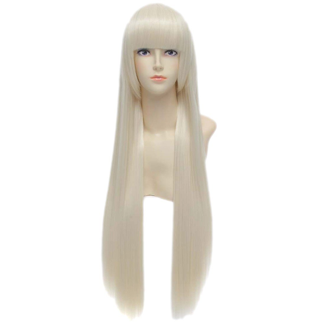 Cosplay wigs perruque straight Chobits Eruda long blonde golden hair wig Winson W111A0375