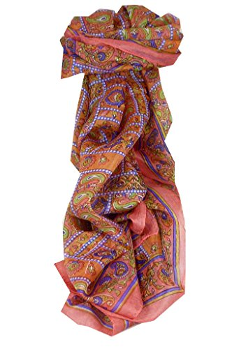 Foulard Gamme Traditional de Soie Motif Chenab Blush de Pashmina & Silk