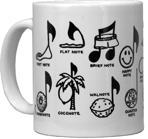 - CMC Ceramic Mug - Notes Design