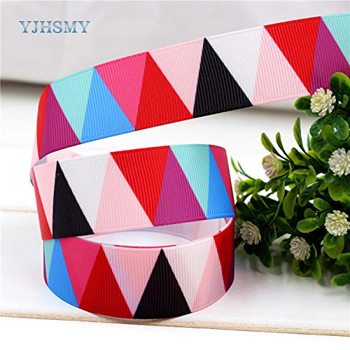 Lavenz 10yard/lot Flower Printed Grosgrain Ribbon Wedding Accessories DIY Handmade