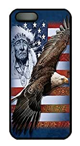 Covers Spirit of America Custom PC Hard Case Cover for iPhone 5/5S Black