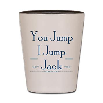 Amazon com | CafePress You Jump, I Jump Jack Shot Glass, Unique and