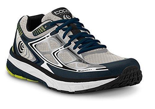 抑制取得ジュースTopo Mens Magnifly Running Shoe Grey/Silver Size 11.5 [並行輸入品]