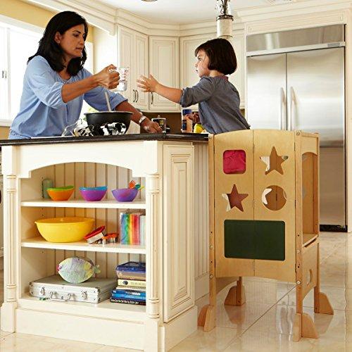 Guidecraft Classic Kitchen Helper Natural Adjustable