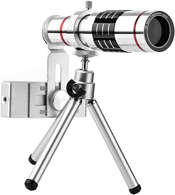 WQYRLJ Objetivos del Teléfono Móvil 18X Cámara del Telescopio ...