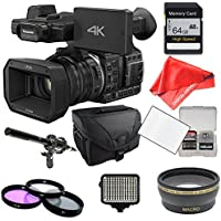 Panasonic HC-X1000 64GB Card + Case + LED Light Set + Microphone Set + Accessory Package