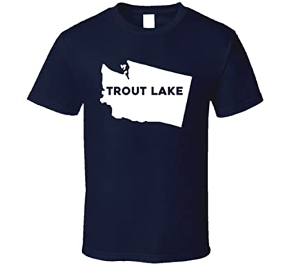 Amazon Com Trout Lake Washington City Map Usa Pride T Shirt Clothing