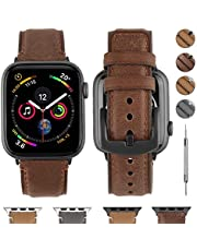 Fullmosa Compatible for Apple Watch Band 38mm 40mm 42mm 44mm, Fullmosa YOLA Leather Apple Watch Band for iWatch SE, iWatch Series 6/5/4/3/2/1, Nike+, Edition, Sport