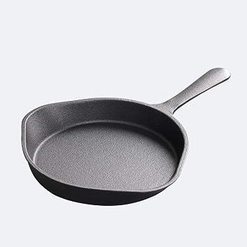 Cocina de Hierro Fundido Cocina Sartén Cocina Fry Pan Utensilios de Cocina Cocina de inducción Pot Olla Antiadherente 18cm: Amazon.es: Hogar