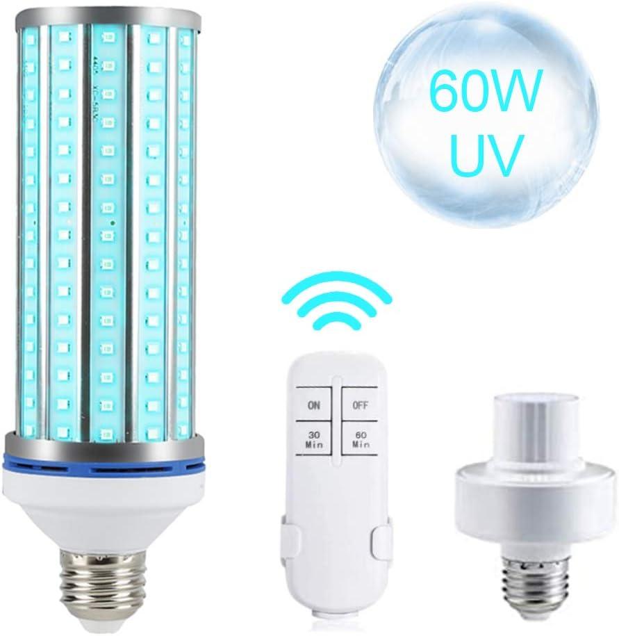 60W House UV Germicidal Light Tube Ozone Sterilizer UV Corn Lamp E26//E27 Base