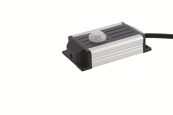 Luceco – LUCLACSCPIR-LE Kit detector de presencia para regleta LED, plástico, negro