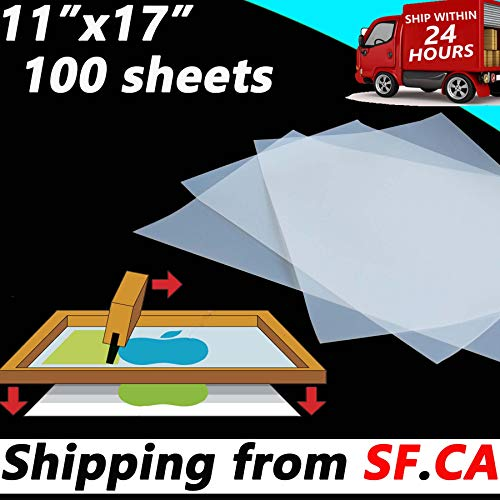 ,Waterproof Inkjet Instant Dry Silk Screen Printing Transparency Film Paper 5mil ()