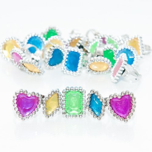 Rhinestone Rings - 24 per unit by SmallToys