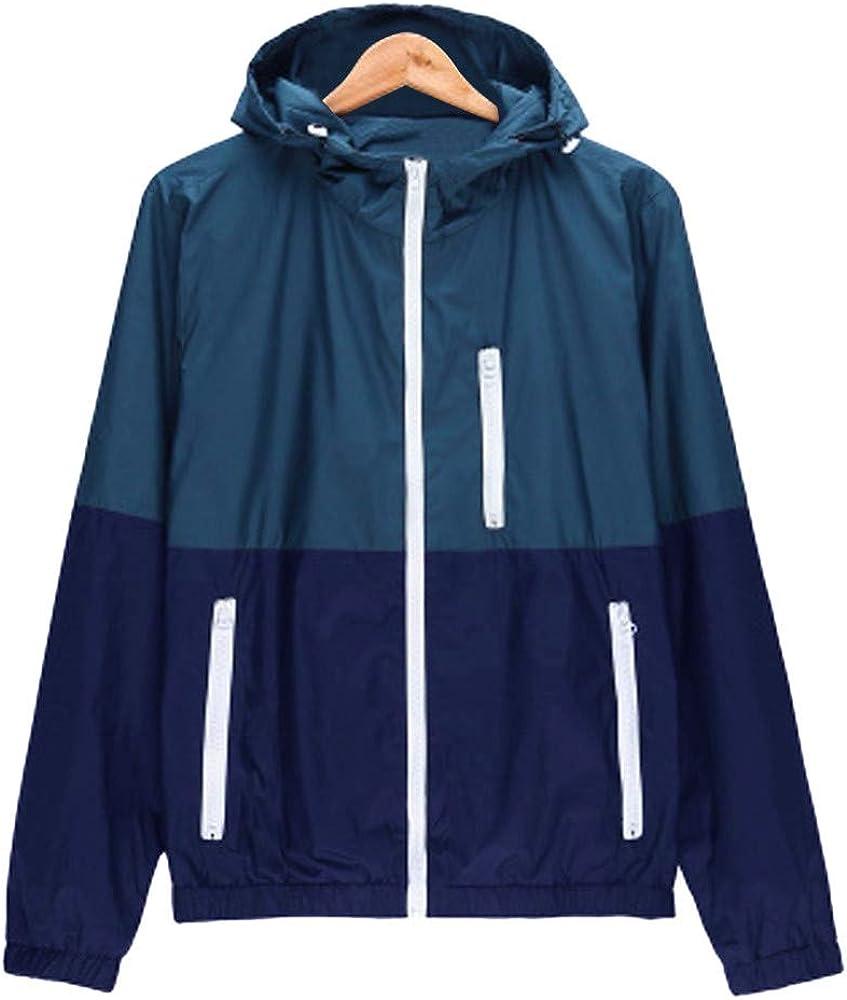 FarJing Mens Jacket Coat Mens Casual Outdoor Sportswear Windbreaker Lightweight Bomber Jackets