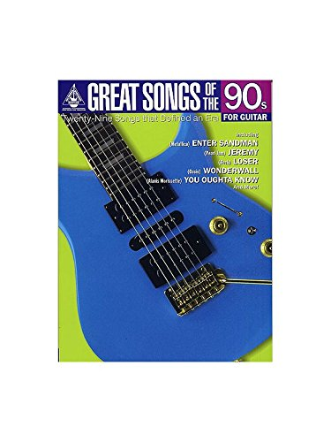 Great Songs Of The 90s For Guitar - Guitar Recorded Versions ...
