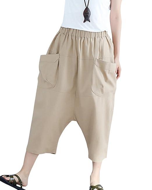 Donna Vita Alta Gamba Larga Pantaloni Tinta Unita Sciolto