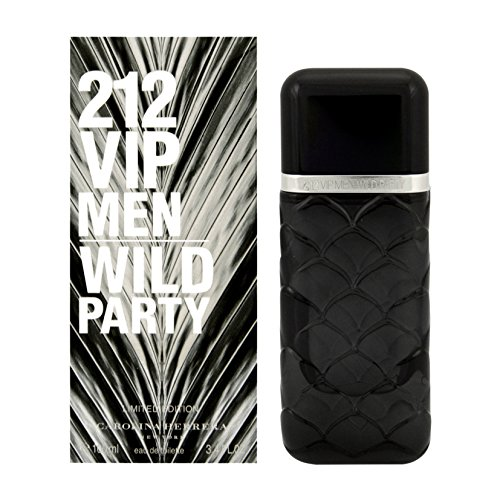 (Carolina Herrera 212 VIP Men Wild Party 100ml/3.4oz Eau De Toilette EDT Spray)