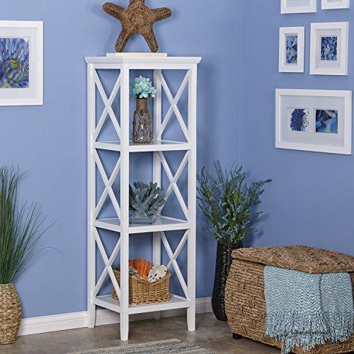 RiverRidge X- Frame Collection 4-Shelf Storage Tower, White by RiverRidge Home (Image #3)