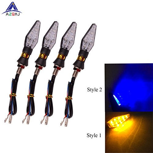 4pcs 12V 12 LED Universal Motorcycle Turn Signal Light - 7