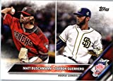 2016 Topps Update #US147 Tayron Guerrero / Matt Buschmann San Diego Padres Baseball Rookie Card in Protective Screwdown Display Case