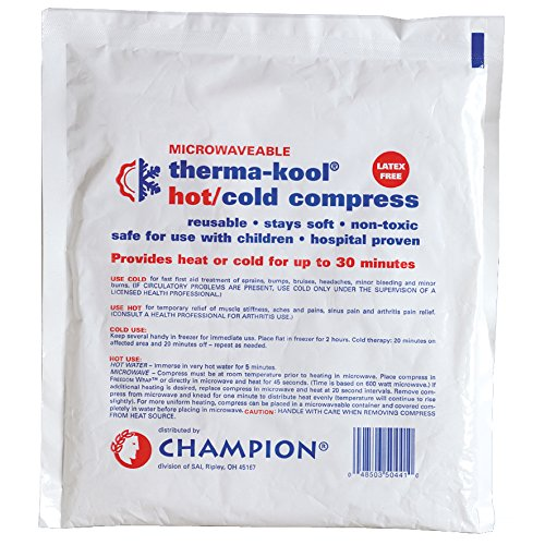 PCP Therma Kool Reusable Hot & Cold Therapy Gel Pack, White, 12 Count by PCP