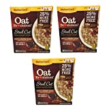 BetterOats Oat Revolution Steel Cut Maple and Brown Sugar Oatmeal with Flax, a Great Source of ALA OMEGA-3 - 3 Pack, 10 pouches each