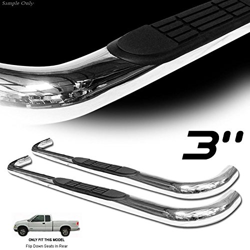 VXMOTOR 1982-2003 CHEVY S10/SONOMA EXTENDED CAB - HEAVY DUTY - CHROME T304 SS side step NERF BARS rail RUNNING BOARDS