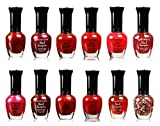 Kleancolor Assorted Nail Colors Set Perfect Gift For Loved One Pastel, Metallic, Blue, Pink, Neon, And Purple (12 PIECES, RED)