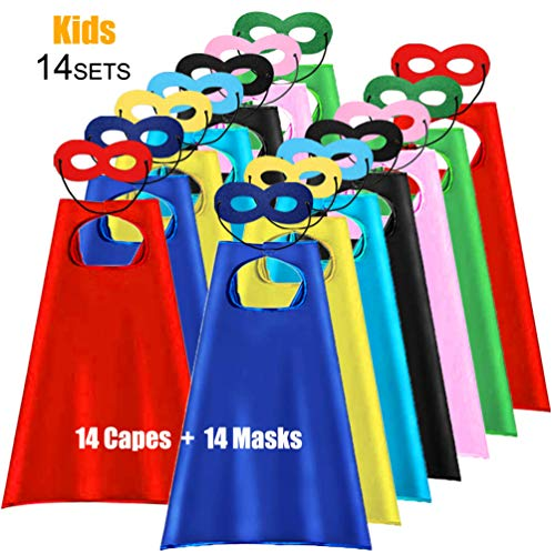 ADJOY Super Hero Capes and Masks for Kids