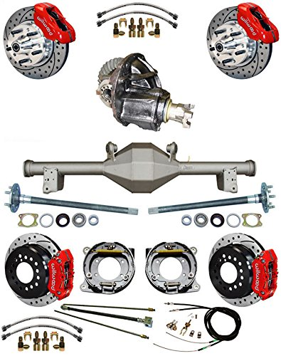 NEW SUSPENSION & WILWOOD BRAKE SET WITH CURRIE REAR END & AXLES, POSI-TRAC 3RD MEMBER, PARKING BRAKE CABLE, 11