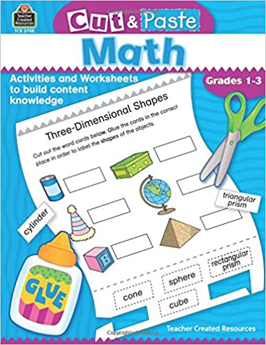Counting Number worksheets kindergarten cut and paste worksheets free : Amazon.com: Cut & Paste Math: Grades 1-3 (0014467037080): Jodene ...