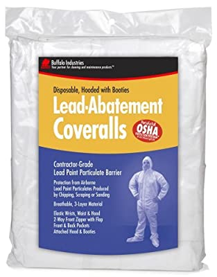 Buffalo Industries (68441) Lead Abatement Disposable Coverall - Size Large by Buffalo Industries