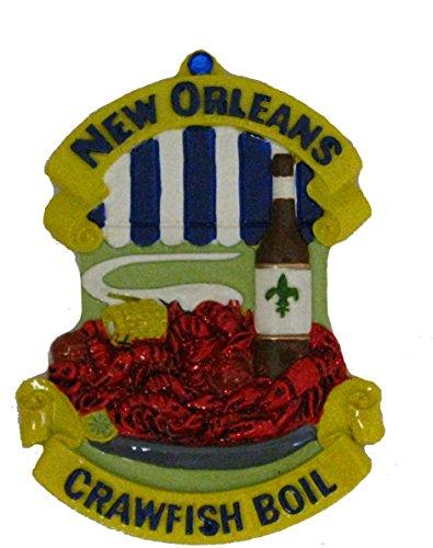 New Orleans Crawfish Boil Refrigerator Magnet gift favor French Quarter Crayfish Freezer cajun magnet French Quarter party decor Louisiana hostess gift theme Crawdad kitchen wedding food w/ Pouch ()