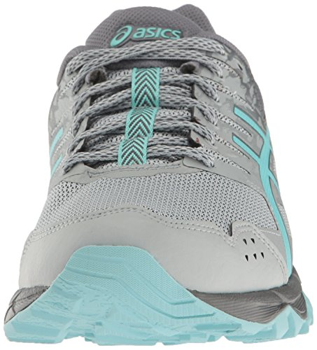 Asics Womens Gel-sonoma 3 Trail Runner Mid Gray / Aqua Splash / Carbon