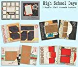 High School Scrapbook Set - 5 Double Page Layouts