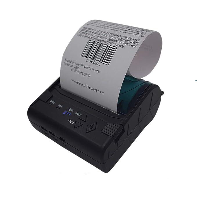 QIONGQIONG Tragbarer Mini 58Mm Thermischer Empfangsdrucker USB Bluetooth Persönlicher Empfangsdrucker Kompatibel Mit Android Und IOS Windows-System Und ESC/POS-Druckbefehl Set
