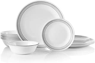 product image for Corelle 18-Piece Service for 6, Chip Resistant, Mystic Gray Dinnerware Set