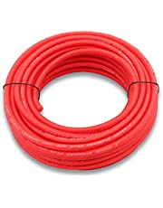 Welugnal 8 Gauge 41ft Red Power/Ground Wire True Spec and Soft Touch Cable for Car Amplifier Automotive Trailer Harness Wiring