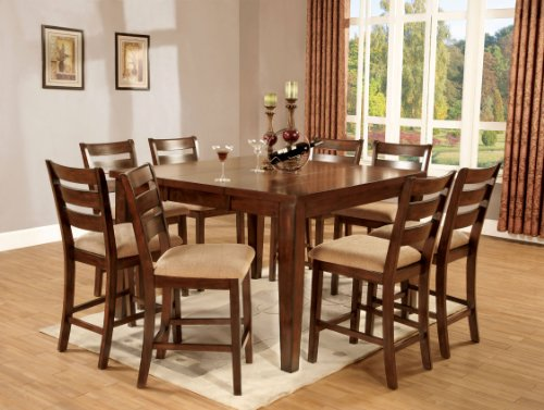 Furniture of America Terri 7-Piece Mission Style Counter ...